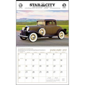 Printed Antique Cars Large Executive Calendar
