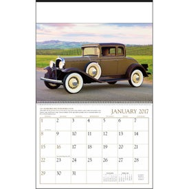 Antique Cars Large Executive Calendar Printed with Your Logo