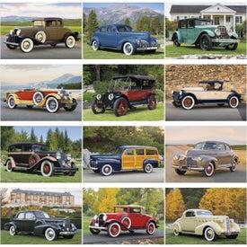 Antique Cars Large Executive Calendar for Customization