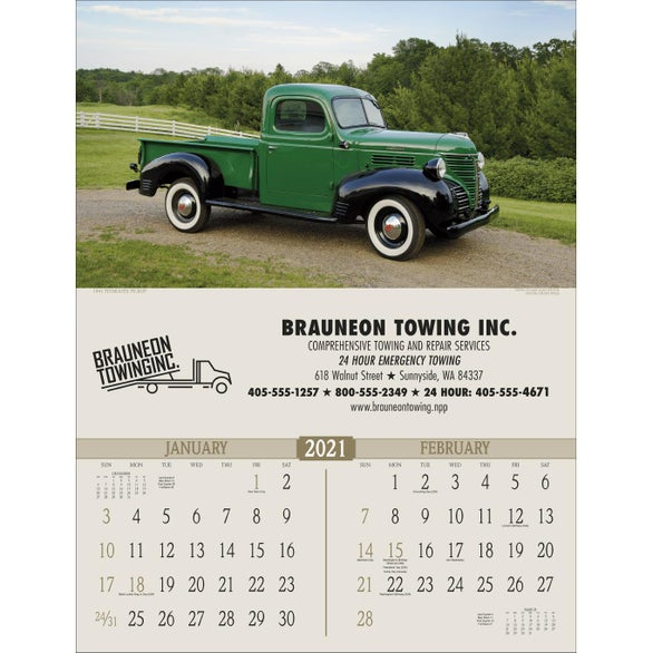 See Item Antique Trucks Executive Calendar