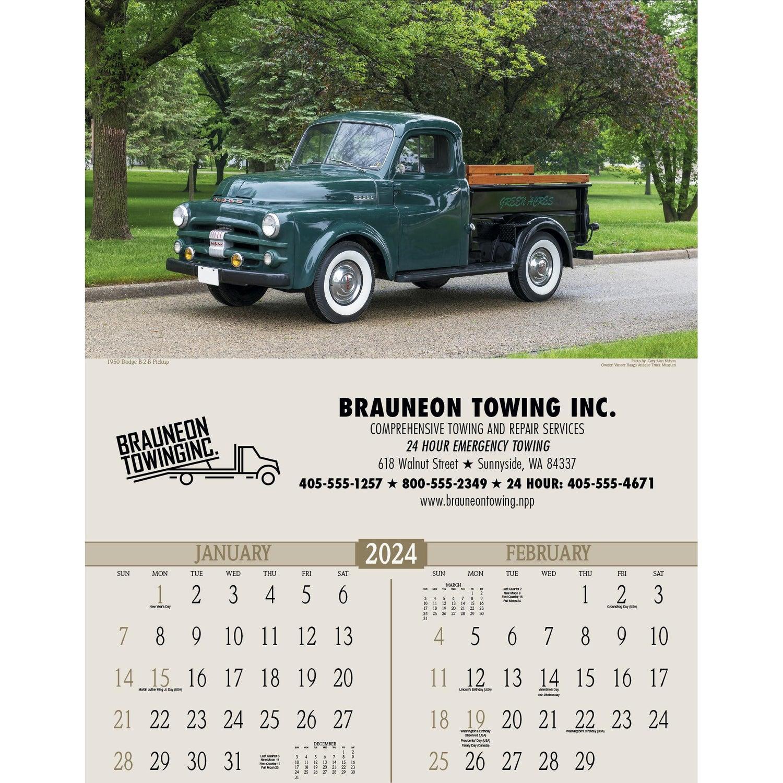 Promotional 2019 Antique Trucks Executive Calendars with Custom Logo ...