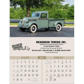 Monogrammed Antique Trucks Executive Calendar