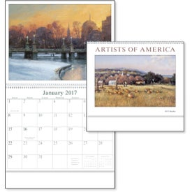 Artists of America Appointment Calendar with Your Slogan