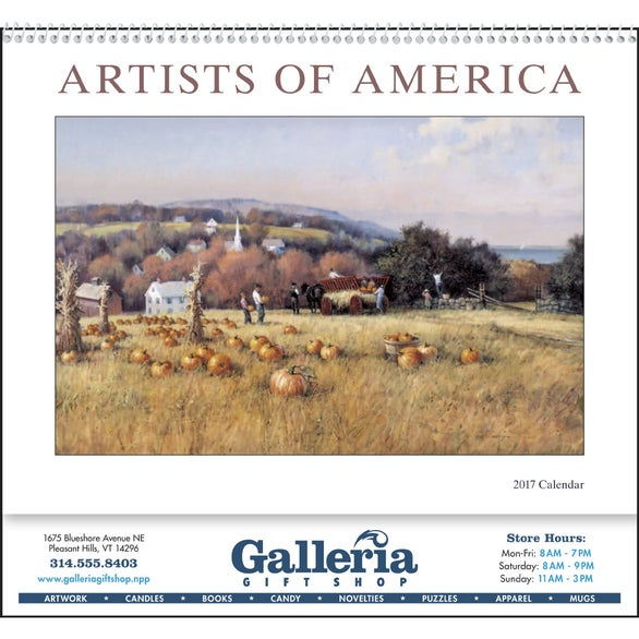 Artists of America Appointment Calendar