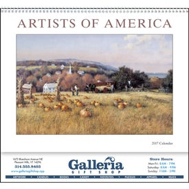 Artists of America Appointment Calendar (2017)