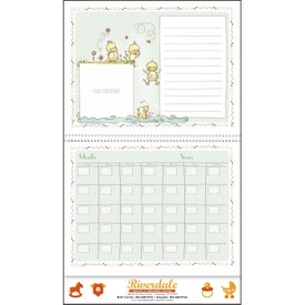 Baby's First Year Appointment Calendar Printed with Your Logo