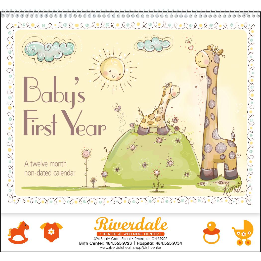 Baby S First Year Appointment Calendar With Your Logo