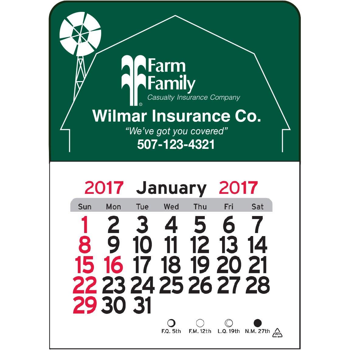 Barn Vinyl Adhesive Calendar Custom Calendars 0 44 Ea