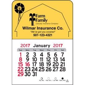 Barn Vinyl Adhesive Calendar with Your Slogan