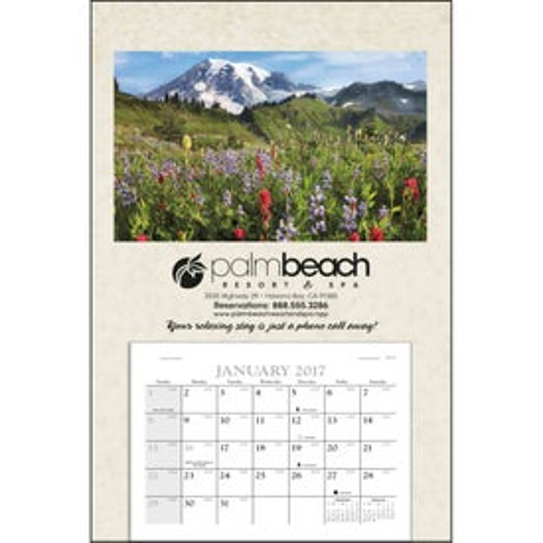 Imprinted Baronet Calendar
