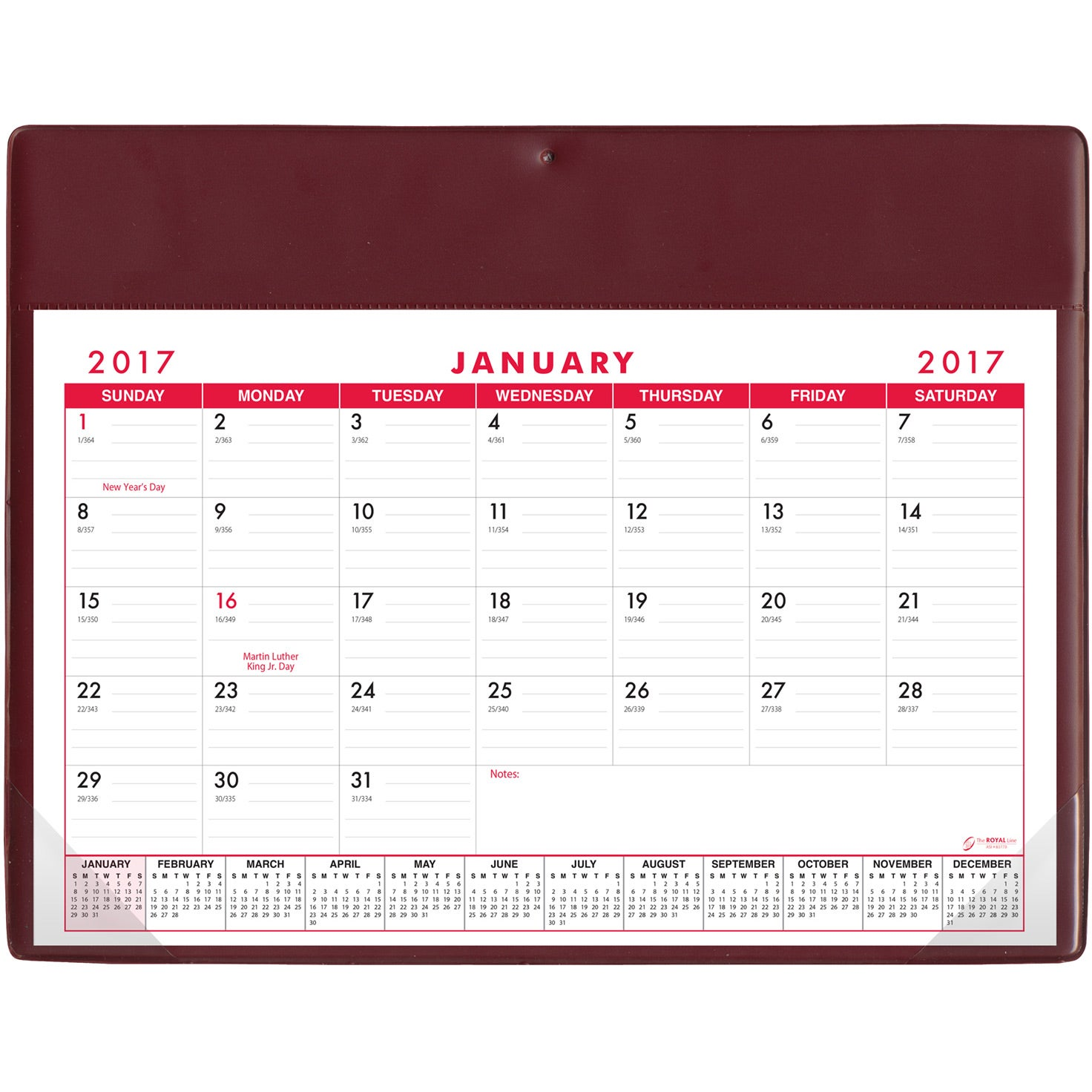 Basic Desk Pad Calendar Doodle Pad Stock Colors