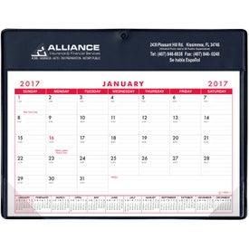 Monogrammed Basic Desk Pad Calendar - Doodle Pad