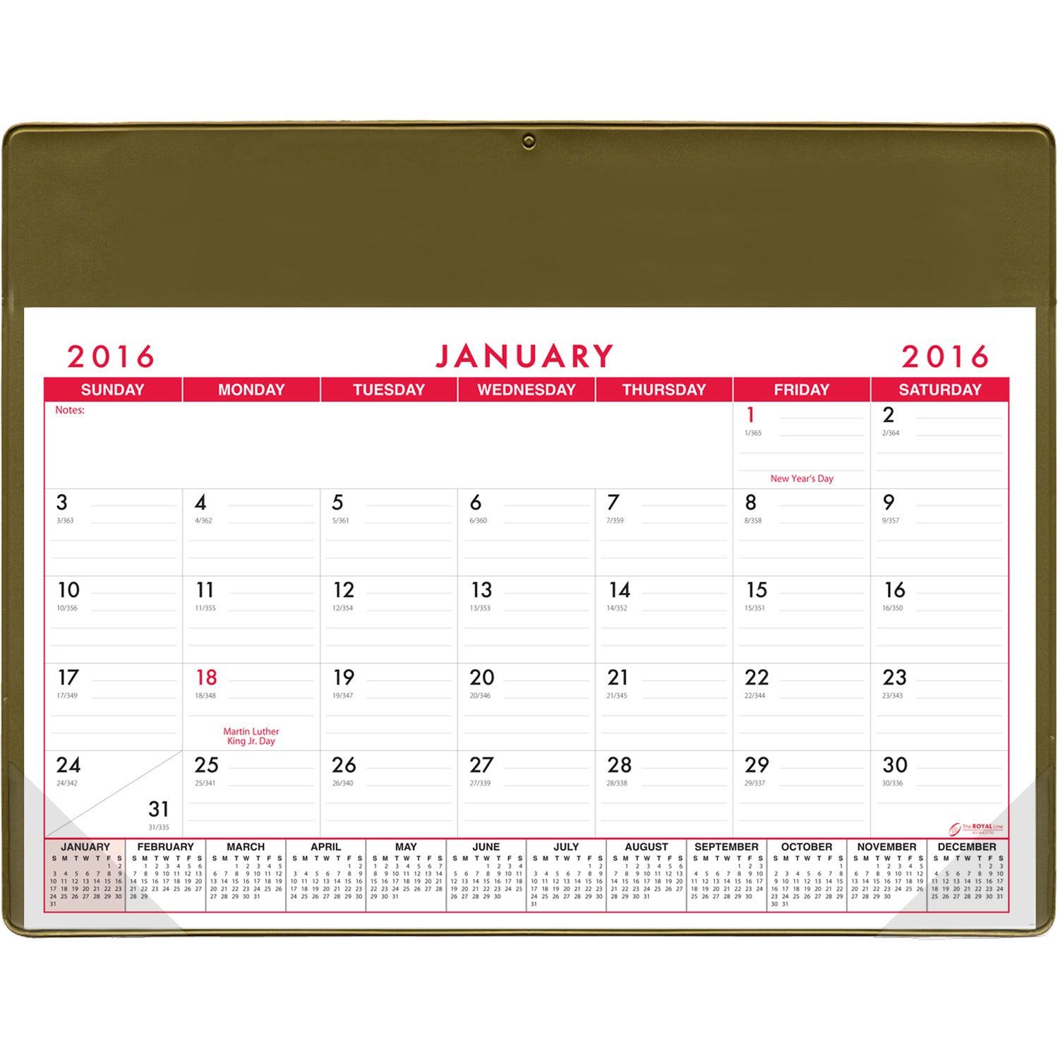 Basic Desk Pad Calendar Doodle Pad Custom Calendars