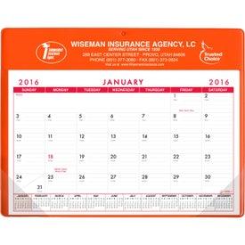 Printed Basic Desk Pad Calendar - Doodle Pad