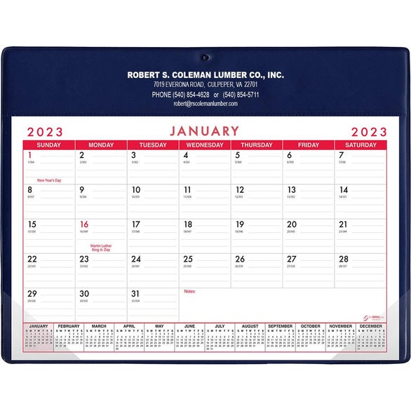 Promotional Stock Colors Basic Desk Pad Calendar - Doodle Pads ...