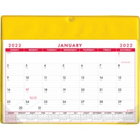 Basic Desk Pad Calendar - Doodle Pad (Non Stock Colors)