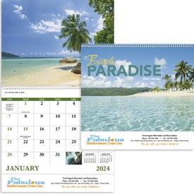 Beach Paradise Spiral Calendar