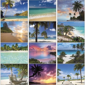 Exotic Beaches Appointment Calendar for Advertising