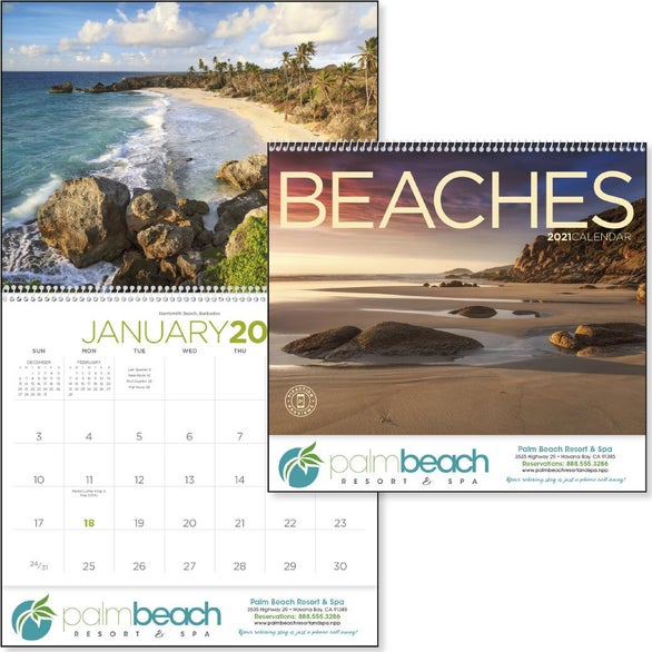 See Item Exotic Beaches Appointment Calendar