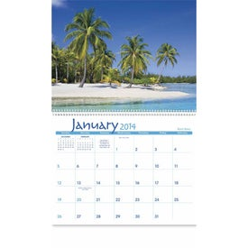 Advertising Exotic Beaches Appointment Calendar