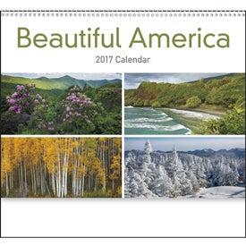 Monogrammed Beautiful America Appointment Calendar