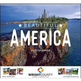 Beautiful America Appointment Calendar with Your Logo