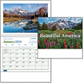 Beautiful America Pocket Calendar for Advertising