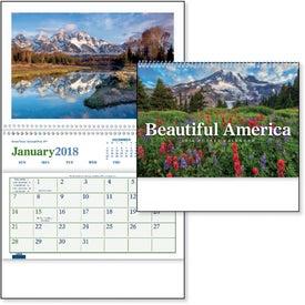 Beautiful America Pocket Calendar for Advertising