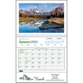 Beautiful America Pocket Calendar with Your Logo