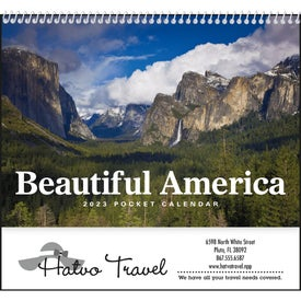 Beautiful America Pocket Calendar Branded with Your Logo