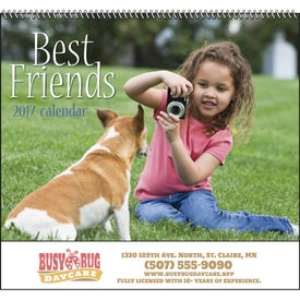 Best Friends Spiral Calendar (2017)