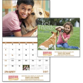 Best Friends Stapled Calendar Giveaways