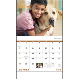 Monogrammed Best Friends Stapled Calendar