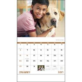 Monogrammed Best Friends Stapled Calendar