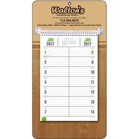 Monogrammed Bi-Weekly Memo Calendar