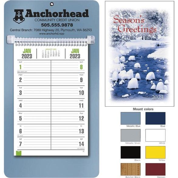 Promotional BiWeekly Memo Calendars with Custom Logo for 260 Ea – Weekly Memo Calendar