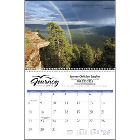 Monogrammed Bible Passages Executive Calendar