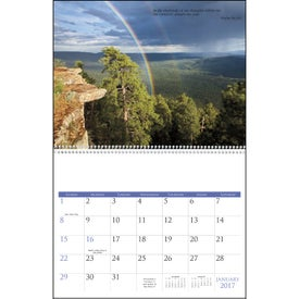 Bible Passages Executive Calendar Branded with Your Logo