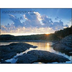 Bible Passages Executive Calendar with Your Slogan