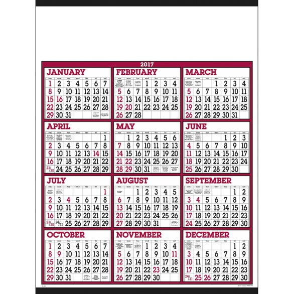 Calendar Year Number Of Days : Calendar template large numbers autos post