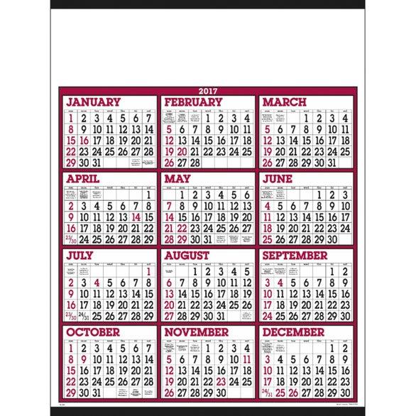 Paid Day Number Calendar | Calendar Template 2016