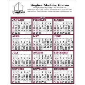 Burgundy/White Big Numbers Span-A-Year Calendar Printed with Your Logo