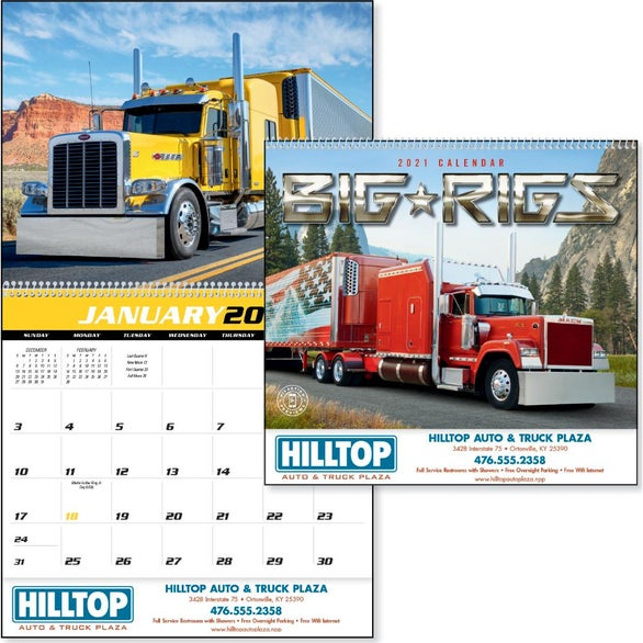 See Item Big Rigs Appointment Calendar