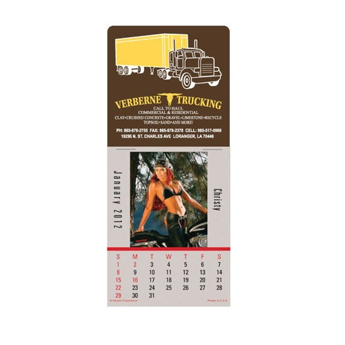 Biker Babes Super Size Press N Stick Calendar