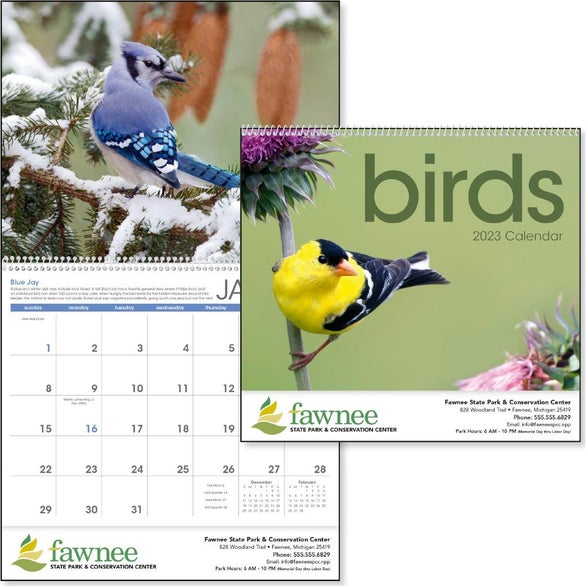 Birds Appointment Calendar