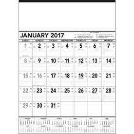 Black and White Contractor Memo Calendar for Advertising