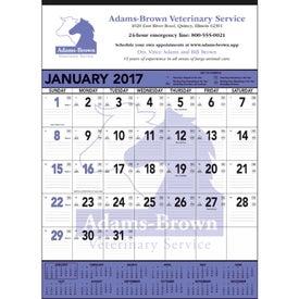 Personalized Black and White Contractor Memo Calendar