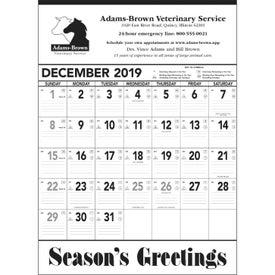 Black and White Contractor Memo Calendar (2020)