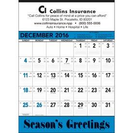 Custom Blue and Black Contractors Memo Calendar