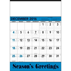 Customized Blue and Black Contractors Memo Calendar